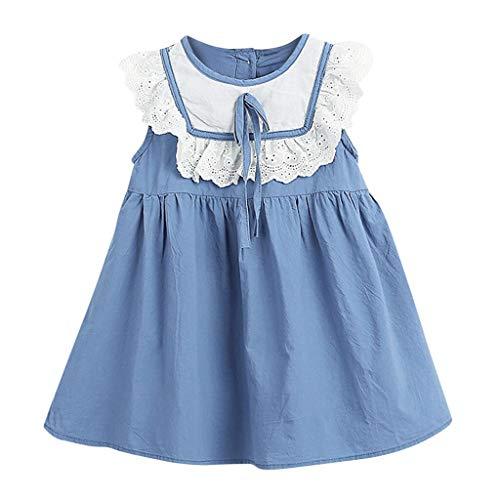 Julhold Kleinkind Kinder Baby Mädchen Nette Feste Spitze Rüschen Bogen Prinzessin Lässige Slim Kleid Sommerkleid 0-4 Jahre