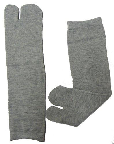 Osaka Japan Tabi Socken, Geisha, Geta, Japanisch 100% Baumwolle Kuscheliges Ninja, Ninjutsu Tabi Socken verbessert,–(CNA) Grau Senior/Erwachsene