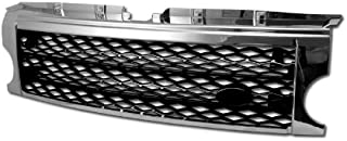 Velocity Concepts Chrome/Black Mesh Front Bumper Grill Grille 2005-2009 for LR3 Discovery 3
