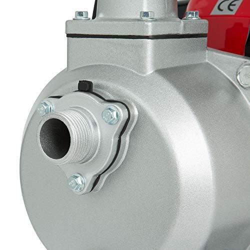 EBERTH 1 Zoll Wasserpumpe Benzin Teich Gartenpumpe 12.500 l/h - 3
