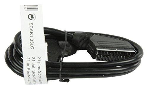 Valueline SCART, 1.50m cable EUROCONECTOR 1,5 m SCART (21-pin) Negro - Cables EUROCONECTORES (1.50m, 1,5 m, SCART (21-pin), SCART (21-pin), Macho, Macho, Negro)