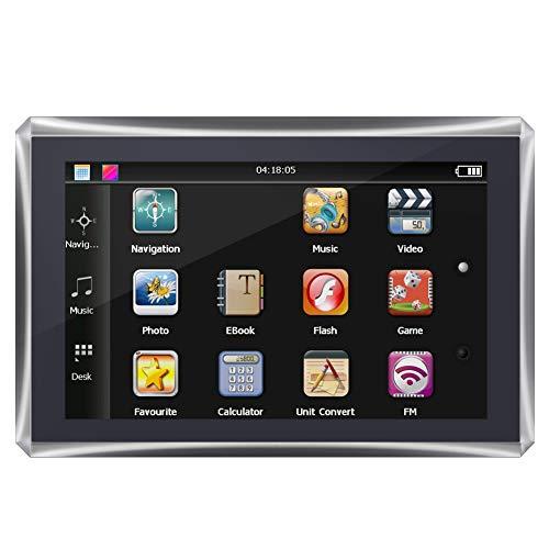 GPS-Navigation, 5-Zoll-Auto-Touchscreen Portable GPS-Navigator 128M 4GB FM Europe Free Map(EU)