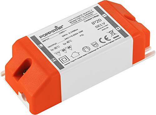 Poppstar Trasformatore LED 24V (230V CA / 24V CC 0,625A) per LED da 0,15W fino a 15W