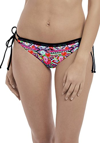 Freya Womens Texas Rose Italini Tie Side Bikini, XS, Rebel Pink