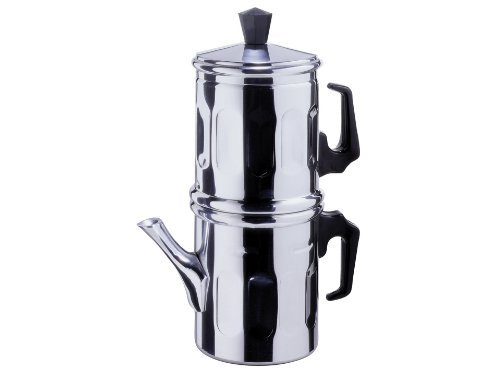 Cafetera tradicional napolitana de aluminio TZ.3-4 cm