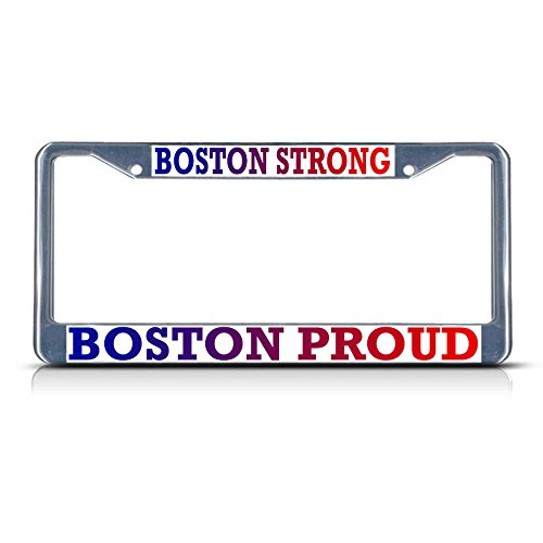 Boston Sterke, Boston Proud Metal License Plaat Frame Tag Border Twee Gaten Perfect voor Mannen Vrouwen Auto garadge Decor