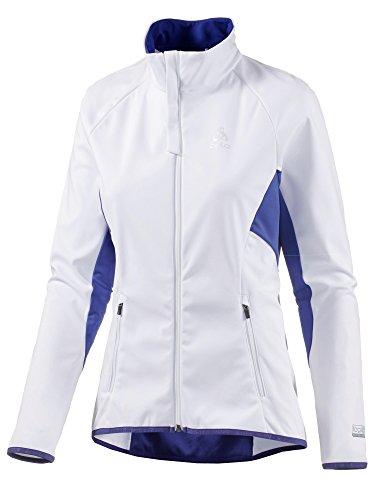 Odlo Damen Jacket Stryn Skifahren-Jacken-Bekleidung, White - Clematis Blue, L