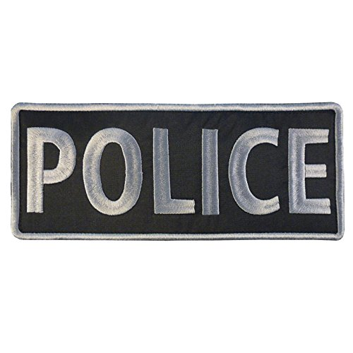 POLICE Large XL ACU Subdued 10x4 inch SWAT Chest Tactical Embroidered Nylon Touch Fastener /Écusson Patch