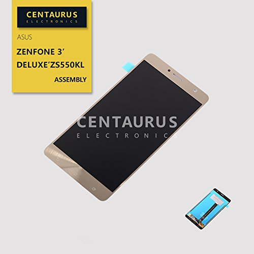 Replacement for Asus ZenFone 3 Deluxe ZS550KL Z01FD 5.5 inch Replacement LCD Display Touch Screen Digitizer Assembly (Gold)