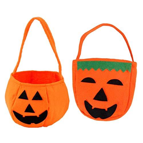 ExeQianming 2 bolsas de caramelos con forma de calabaza para niños, Halloween, fiestas