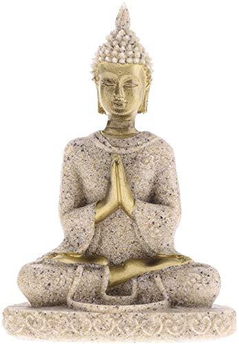 Yikko Mini Sandstein Buddha Statue Metriya Statue Handgeschnitzte Skulptur Set Geeignet für Statue Home Decoration Figuren Home Desktop Office Dekoration (7.5 x 5 x 2.5 cm)