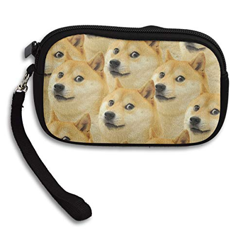 Puppy Doge Dog Wallet Small Coin Purse Portable Notecase Zipper Pouch Handbag Makeup Bag Girl Women -3.8' 6'