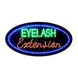 LED Eyelash Sign for Business, Super Bright Eyelash Extension Sign Electric Advertising Display Sign for Beauty Salon Spa Business Shop Store Decor (Eyelash Extension)