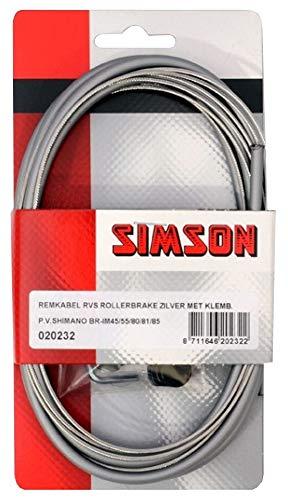 Simson - Cable de freno Kpl.Grau F.Shimano, color gris, 1 juego