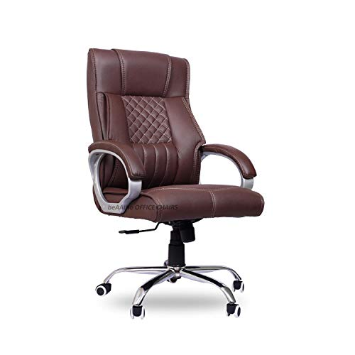 beAAtho JS-29 High Back Executive Office Revolving Chair/Director Chair/Boss Chair (4 Colour Options) (Brown)