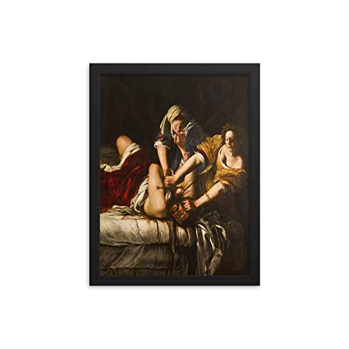 Vintage Images Artemisia Gentileschi's Judith Slaying Holofernes 1863 - Enhanced Matte Paper Framed Poster (12x16) - Black Frame