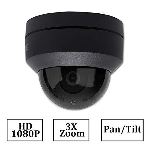 LEFTEK Cámara IP PTZ de 2MP PoE H.265 1080P Zoom óptico 3X Cámara de CCTV de 3.5mm ~ 10.5mm ONVIF Cámara Compatible con HIKVISION NVR/CMS