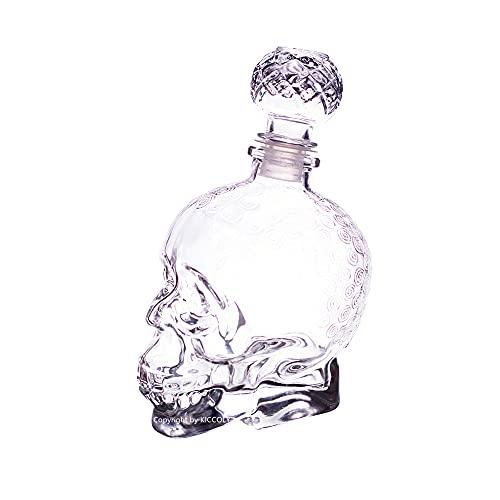Decantatore per liquore Bottiglia per cranio, Decanter per cranio, Bottiglia per vaso creativo, Bicchiere per vino, Bottiglia per whisky, Decanter per caraffa di vino, Bottiglie di vetro da 750 ml