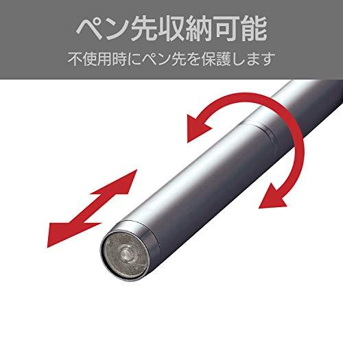 『エレコム タッチペン 極細 ディスクタイプ iPhone スマートフォン Nintendo Switch 対応 サスペンション機能付 ペン先交換可能 グレー P-TPLD01GY』の4枚目の画像