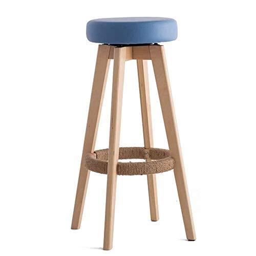 Weiyue Taburete de Bar- Taburete de la Barra, Silla de la Barra, un sillón de Venta Libre, Restaurante taburetes Altos, rotación de 360 °, diseño de la Cuerda de cáñamo
