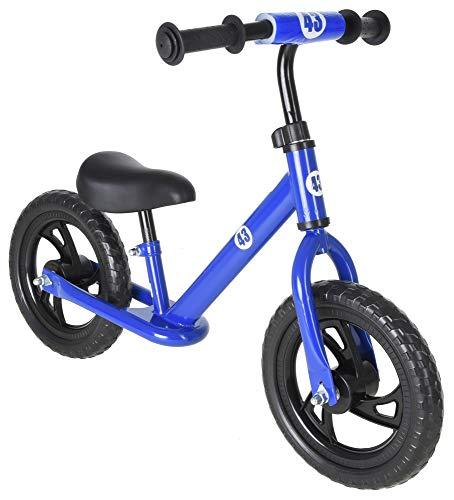 Vilano Rally Balance Bike Training No Pedal Push Bicycle, Blue
