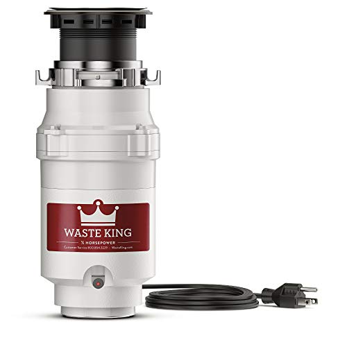 Waste King L1001 Garbage Disposal with Power Cord 1/2 HP