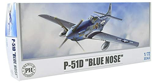 Premium Hobbies P-51D Blue Nose 1:72 Plastic Model Airplane Kit 126V