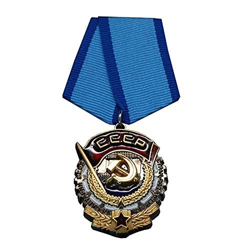 QLTY Medalla de la Bandera roja del Trabajo honorario soviético,Medalla de Recuerdo,Insignia de la Medalla Militar,Insignia de la Medalla de la URSS Rusa soviética,decoración Militar soviética