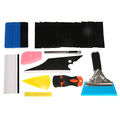 CCH-Adapters, 1pack 8 en 1 Ventana de tinte del coche Herramientas del kit de bricolaje ajuste Herramientas de reparación del kit for la película del vinilo Polarizado escobilla de goma multicolor de