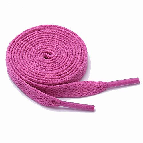 King of Trade Schnürsenkel flach 120 cm 13# pink 8 mm breit