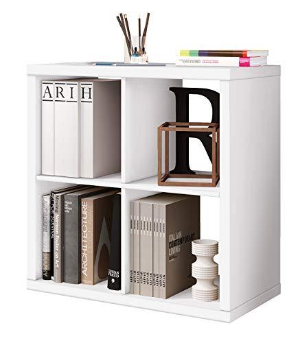 Miroytengo Estantería Cubos 4 Huecos Color Blanco Brillo ha