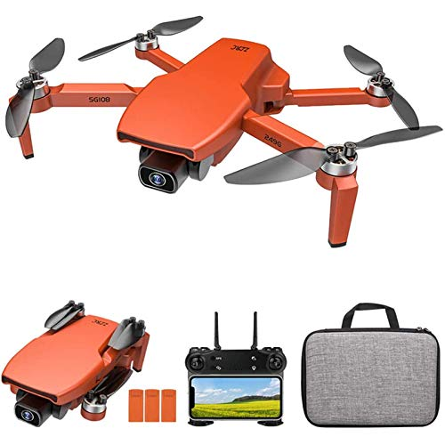 J-Love Drone GPS per Adulti, Drone FPV WiFi 5G con Fotocamera Frontale 4K HD e Telecamera di Posizionamento del Flusso Ottico 720P, Quadricottero RC Pieghevole con Follow Me, Motore brushless