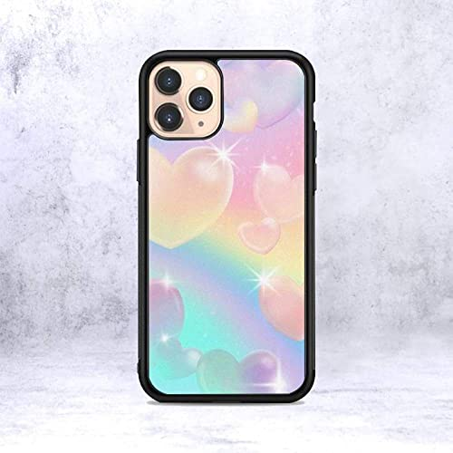 Funda de teléfono con corazón de Color psicodélico para iPhone 12 Mini 11 13 Pro XS MAX X XR 6 7 8 Plus SE20 Suave TPU Silicona Transparente patrón, A1, para iPhone SE2020