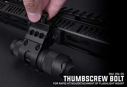 """Monstrum Tactical 1"""" Offset Picatinny Rail Mount for Flashlights"""