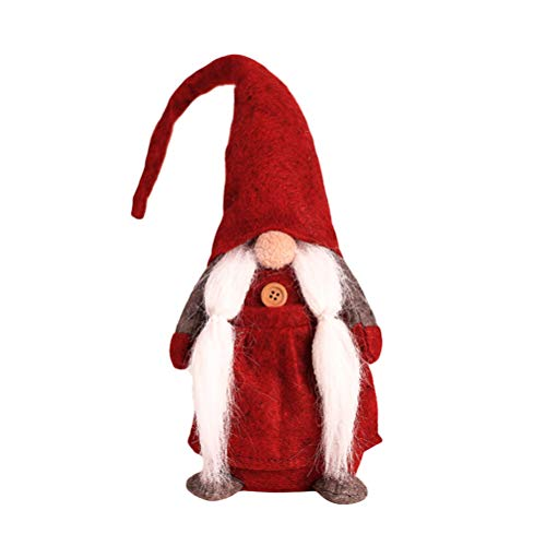 BESTOYARD GNOME Natalizio Svedese Scandinavo Santa Tomte Nisse Casa Decorazione Della Tavola Peluche Bambola Regalo Di Festa (Rosso)