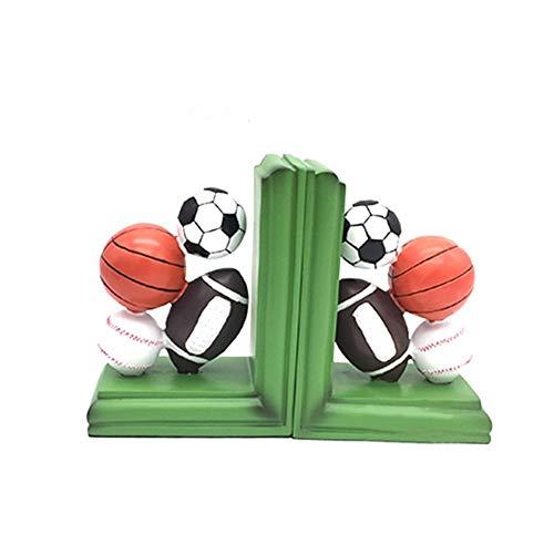 XLL Buchstützen Dekoration, Buchstützen für Regale, lustiges Kunstharz, zum Basteln, Fußballbuch [Dekoration] [Büro] - A 13 x 8 x 16 cm (5 x 3 x 6 Zoll), a, 13x8x16cm(5x3x6inch)