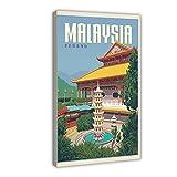 Malaysia Penang City Retro Reise Leinwand Poster Wandkunst