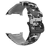 MoKo Banda de Reloj para Suunto Core - [Rombo Serie] Correa Reemplazo de Silicona Suave Deportiva Pulsera de Actividad física para 5.51'-9.06' (140mm-230mm) Muñeca, Camuflaje Digital Clara.