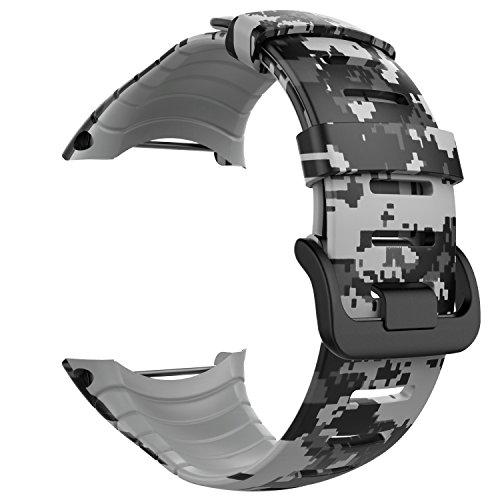 """MoKo Banda de Reloj para Suunto Core - [Rombo Serie] Correa Reemplazo de Silicona Suave Deportiva Pulsera de Actividad física para 5.51""""-9.06"""" (140mm-230mm) Muñeca, Camuflaje Digital Clara."""