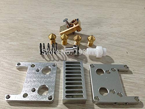 OYPY Ultimaker 2+ UM2+ E3D Olsson block nozzle with Heat Sink hotend header kit for 3.00mm filament 3D printer DIY part