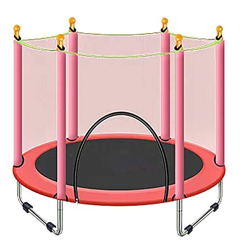 55in Kids Trampoline met behuizing Net, Trampoline met Spring Cover Padding-Indoor Of Outdoor Trampoline voor kinderen Max Load 660lbs