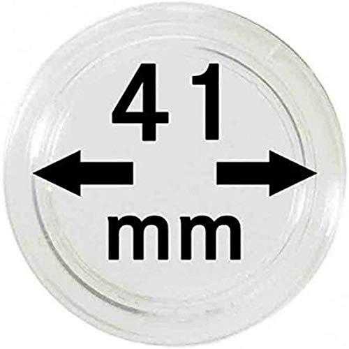 Lindner Münzkapseln für Münzen Ø 14 - 50 mm. Zur Wahl per 1, 5, 10, 100 Stück (41mm - per 10 )