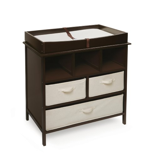 Estate 3 Basket Baby Changing Table with Storage and Pad