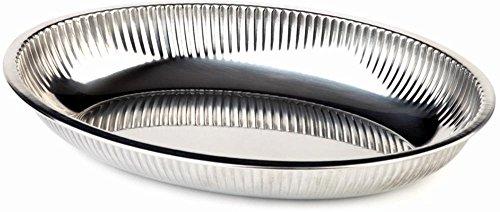APS corbeille ovale inox 31 x 21 cm, H: 4,5 cm acier inoxydable, eingerollter Rand