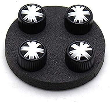YaaGoo for Mini Cooper Tires Rim 4pcs Valve Caps Case Decor Cover Black GJ