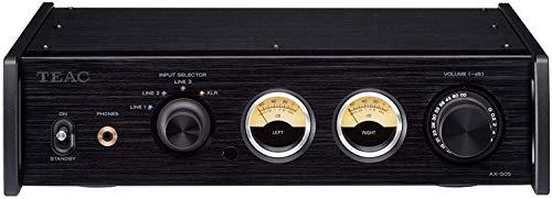 Teac AX-505-B Stereo Vollverstärker (115 Watt je Kanal, Stromsparfunktion, Kopfhörerverstärkerschaltung, Cinch-Eingang) Schwarz