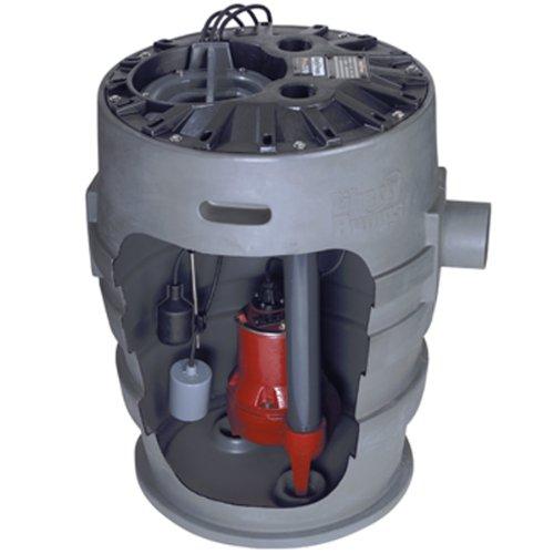 Liberty Pumps P372LE51 Sewage Pump System, 1/2HP, 115V, 2' discharge, 21'x30' basin