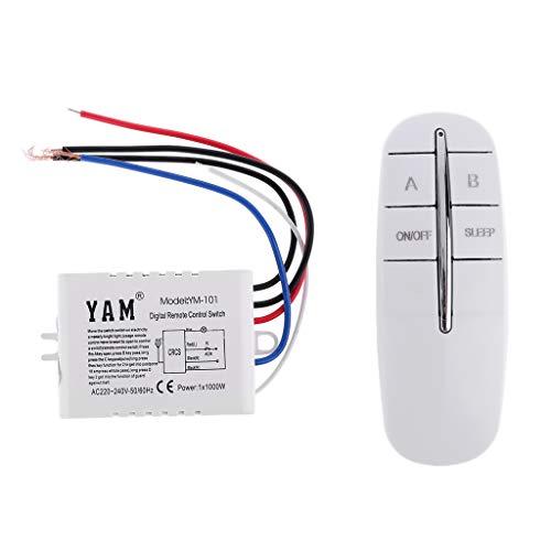 Qirun Interruptor de Control Remoto Digital inalámbrico de 220 V Interruptor Remoto de Pared de luz de lámpara de Encendido/Apagado