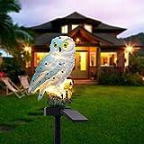 JDD Solarlicht-Eulen-Form-Licht, LED-Gartenlichter Solarnachtlichter, angetriebene...