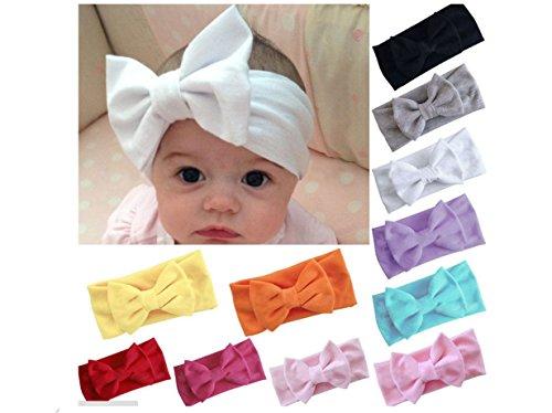 ILOVEDIY Baby Strinband Kopfband Haarband Haarschleife Schleifen Headband Fotografie (Dunkelrosa)